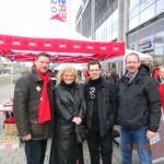 von links: Stadtrat Andreas Budde, Stadträtin Andrea Hofmann, Tobias Ed Grund und Stadtrat Martin Rohrßen