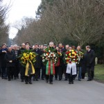 Kranzniederlegung auf dem Westfriedhof am 16. Januar