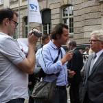 Gemeinsamer Protest gegen die Schließung der Wasser- und Schifffahrtsdirektion Magdeburg