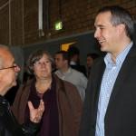 Stadtrat Jens Rösler nimmt an der feierlichen Übergabe der Mehrzwecksporthalle an der MDCC-Arena teil