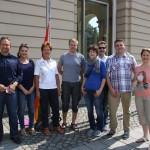 von links: Dr. Falko Grube, Sarah Schulze, Schirmherrin Beate Wübbenhorst, Kai Dethloff, Tina Rosner, Hans-Dieter Bromberg, Denny Hitzeroth und Steffi Meyer
