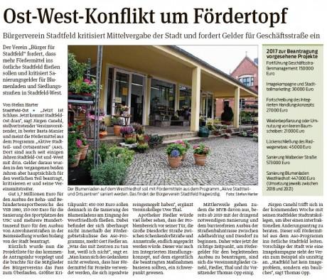 2016_09_22_Vst_Ost West Konflikt um Fördertopf