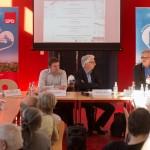 v.l.n.r. Stadtrat Jens Hitzeroth, Wolfgang Beck, Kulturbeigeordneter Prof. Dr. Matthias Puhle ©Fo-To-Design Stephan Tolle