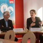 v.l.n.r. SPD-Süd-Ortsvereinsvorsitzender Wolfgang Beck und Leiterin des Stadtplanungsamtes Heide Grosche ©Fo-To-Design Stephan Tolle