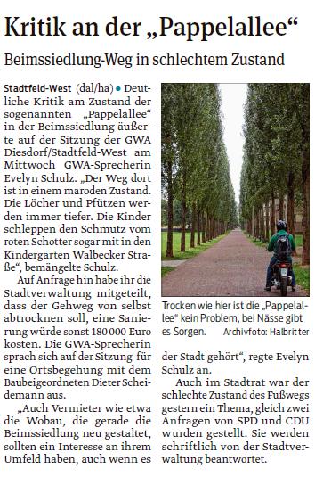 Kritik an der Pappelallee-Volksstimme 21.04.2017