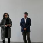 v.l.n.r. Dr. Annegret Laabs (Leiterin des Kunstmuseums) und Tamás Szalay (Leiter des Kulturhauptstadtbüros)
