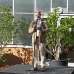 Zoodirektor Dr. Kai Perret hält das Grußwort