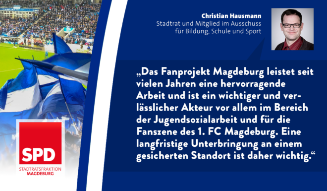 Neuer Standort für das Fanprojekt Magdeburg