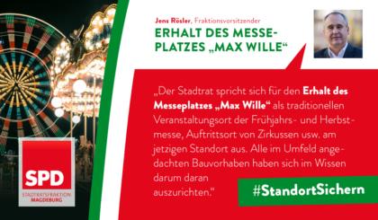 Standort sichern – Erhalt des Messeplatzes Max Wille