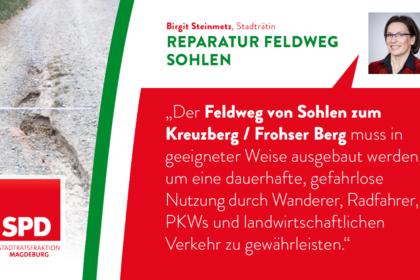 Reparatur Feldweg zum Kreuzberg/ Frohser Berg