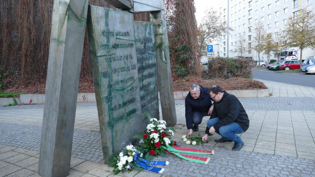 Gedenkveranstaltung am Mahnmal der Alten Synagoge Magdeburg