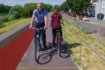 Durch die geplante Sanierung des östlichen Elbdeichs wird diese Strecke jedoch zu schmal sein für eine gemeinsame Nutzung von Jogger*innen, Fußgänger*innen und Radfahrer*innen
