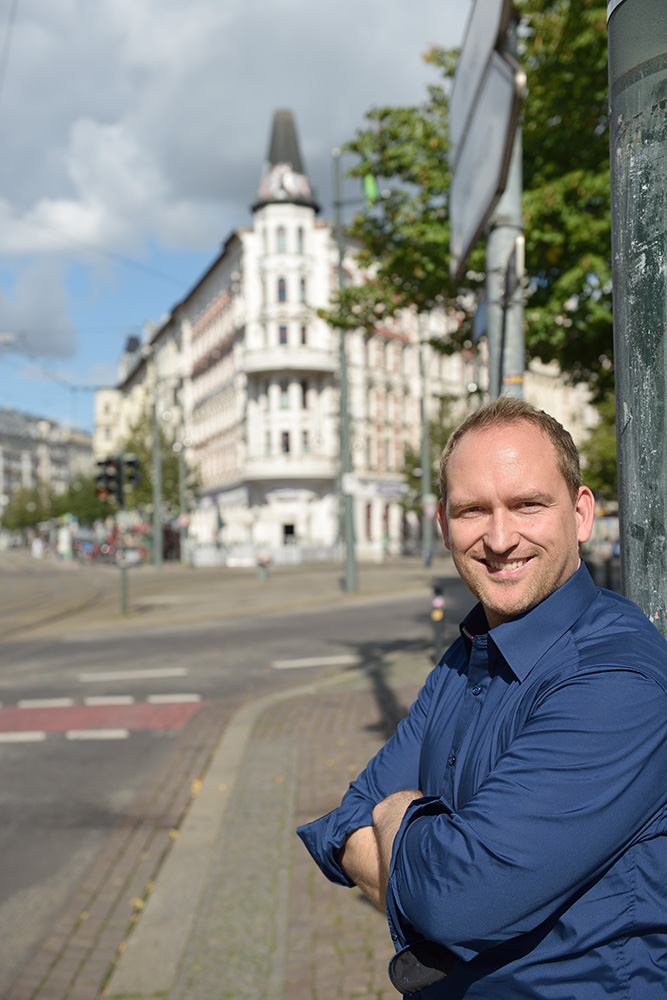 Falko Grube am Hasselbachplatz